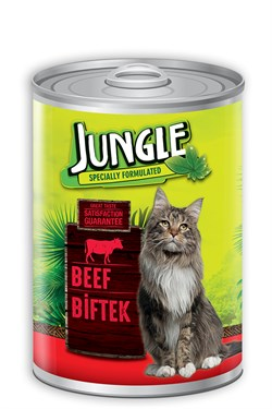 Jungle Kedi 415 gr Biftekli Konserve